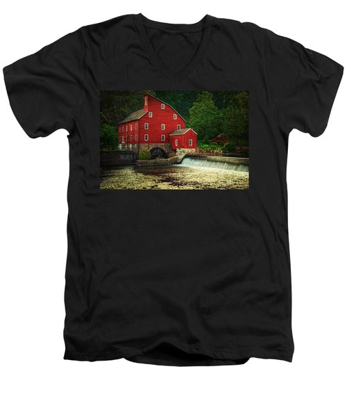 The Old Red Mill Men's V-Neck T-Shirt
