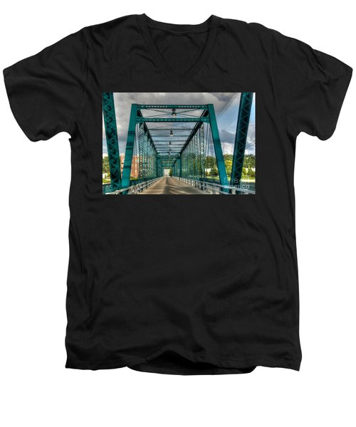 The Old Sixth Street Bridge Men's V-Neck T-Shirt