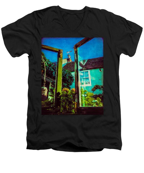 Men's V-Neck T-Shirt featuring the photograph The Open Window by Chris Lord