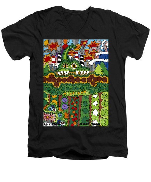 The Other Side Of The Garden  Men's V-Neck T-Shirt by Rojax Art