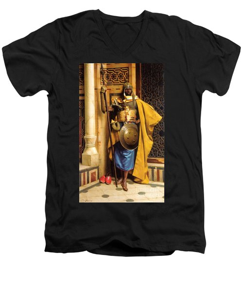 The Palace Guard Men's V-Neck T-Shirt by Pg Reproductions
