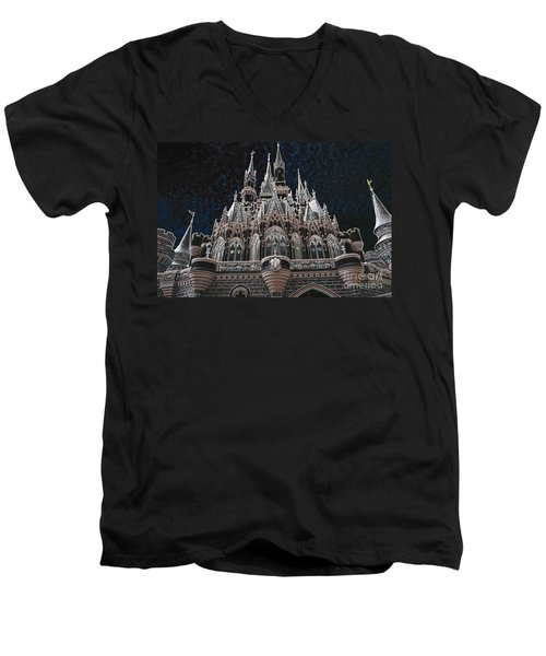 Men's V-Neck T-Shirt featuring the photograph The Palace by Robert Meanor