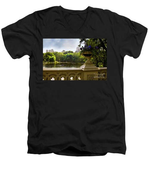The Park On A Sunday Afternoon Men's V-Neck T-Shirt