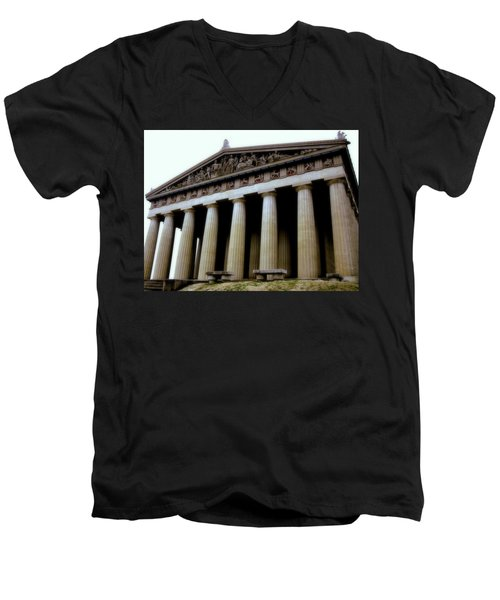 The Parthenon Nashville Tn Men's V-Neck T-Shirt