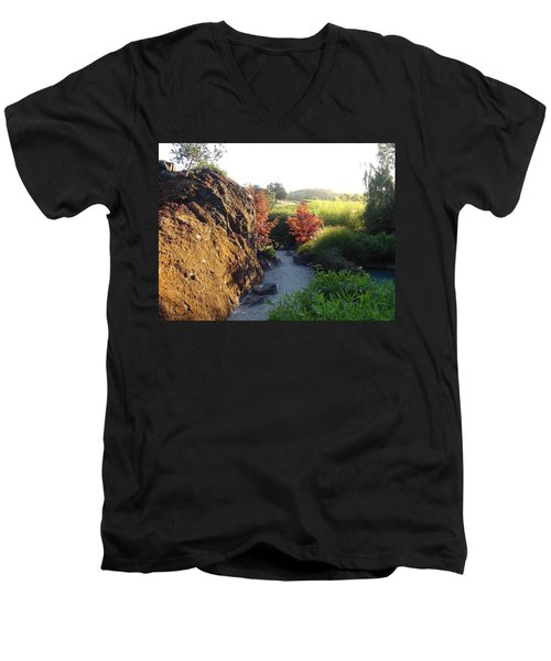 The Path Men's V-Neck T-Shirt by Shawn Marlow