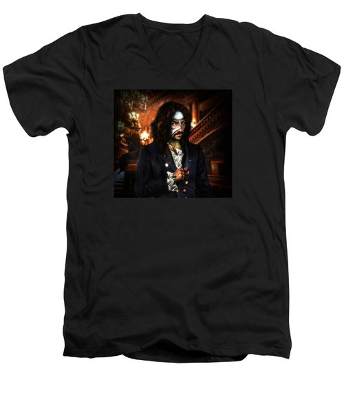The Phantom Of The Opera Men's V-Neck T-Shirt by Alessandro Della Pietra