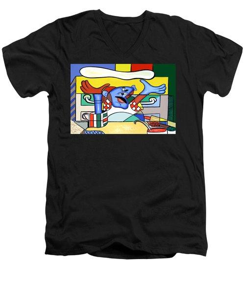 The Pizza Guy Men's V-Neck T-Shirt