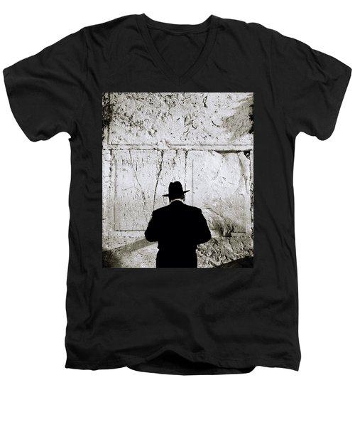 Inspirational Prayer Men's V-Neck T-Shirt by Shaun Higson