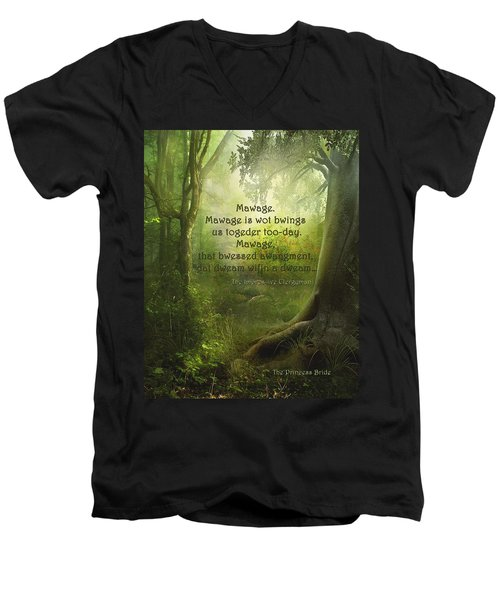 The Princess Bride - Mawage Men's V-Neck T-Shirt