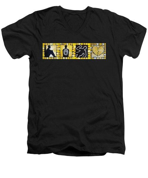 The Progression Of Despair Men's V-Neck T-Shirt
