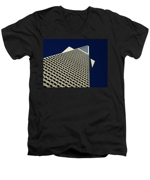 The Pyramid Men's V-Neck T-Shirt by Bill Gallagher