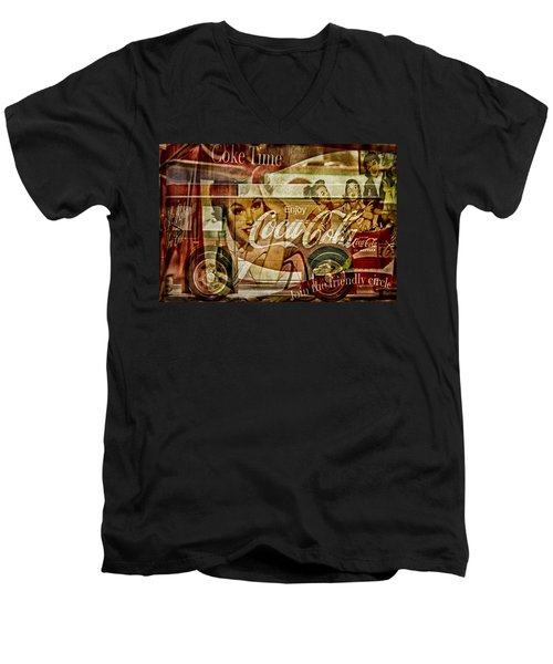 The Real Thing Men's V-Neck T-Shirt by Susan Candelario