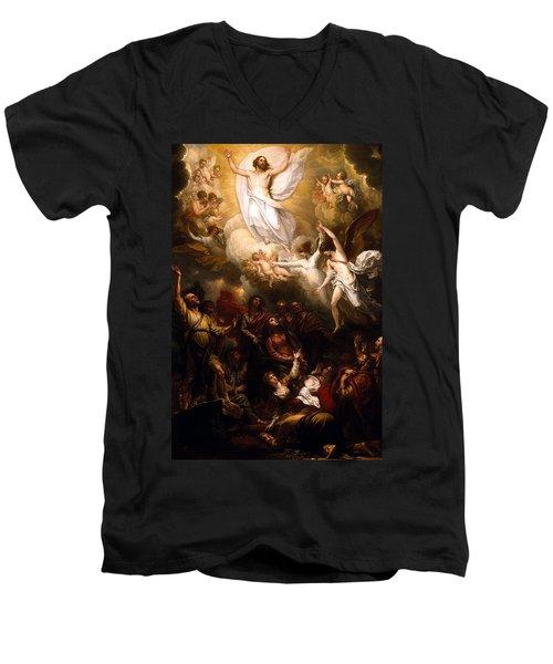 The Resurrection Men's V-Neck T-Shirt by Munir Alawi