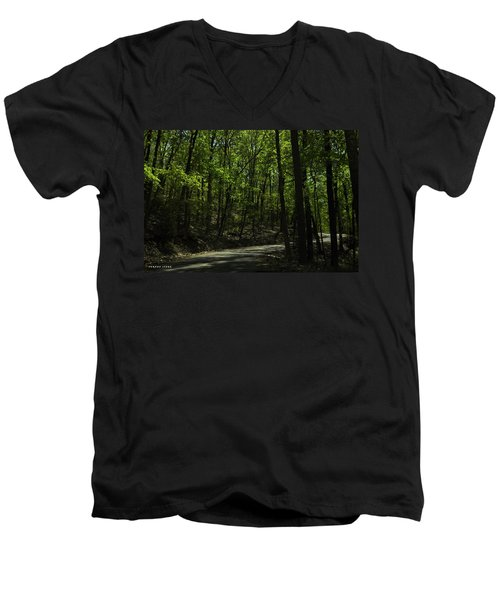 The Roads Of Alabama Men's V-Neck T-Shirt by Verana Stark
