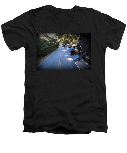 The Roaring Simplex Men's V-Neck T-Shirt