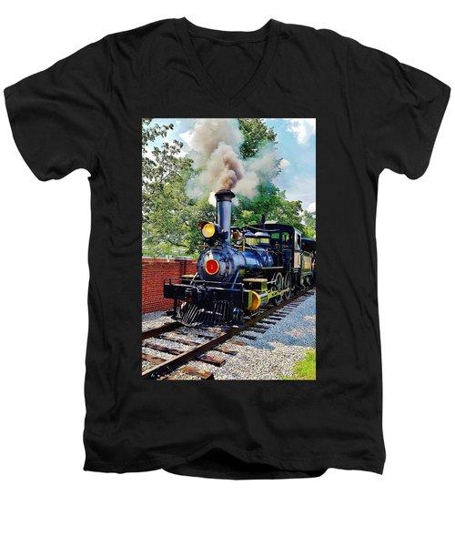 The Rxr At Greefield Village Men's V-Neck T-Shirt by Daniel Thompson