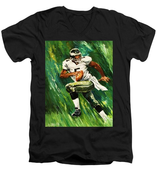 The Scambling Quarterback Men's V-Neck T-Shirt