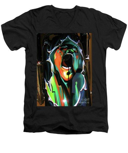 The Scream - Pink Floyd Men's V-Neck T-Shirt by Susan Carella