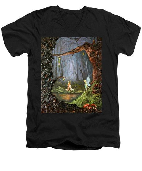 The Secret Forest Men's V-Neck T-Shirt