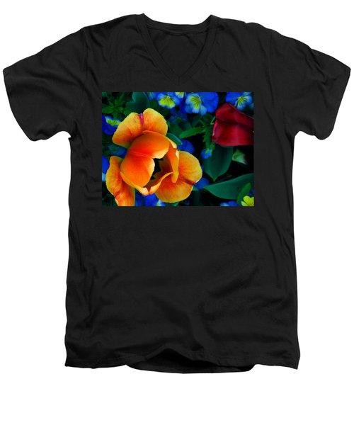 The Secret Life Of Tulips Men's V-Neck T-Shirt by Rory Sagner