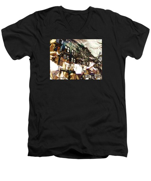 The Silver Factory / 231 East 47th Street Men's V-Neck T-Shirt by Elizabeth McTaggart