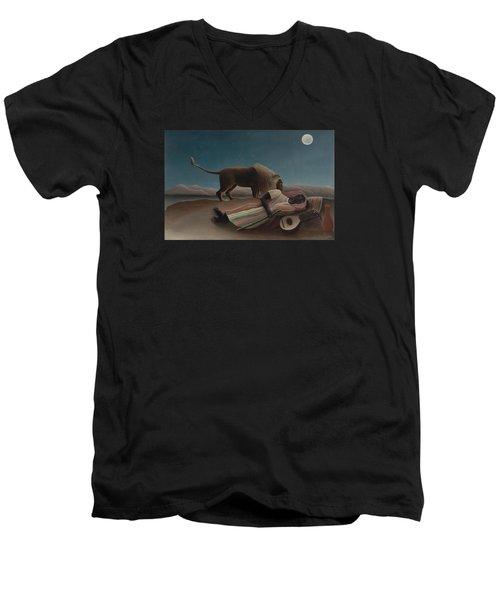 The Sleeping Gypsy Men's V-Neck T-Shirt