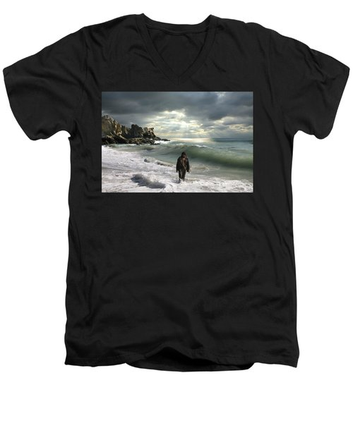 The Son Is The Radiance Of God's Glory Men's V-Neck T-Shirt