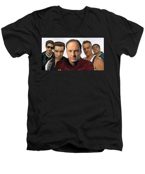 The Sopranos  Artwork 2 Men's V-Neck T-Shirt