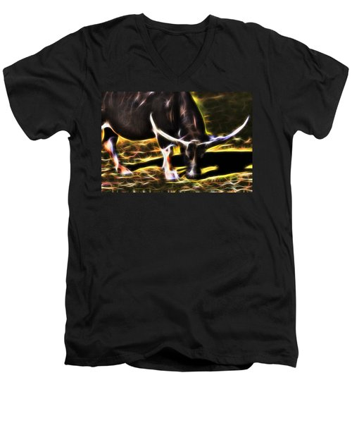The Sparks Of Water Buffalo Men's V-Neck T-Shirt