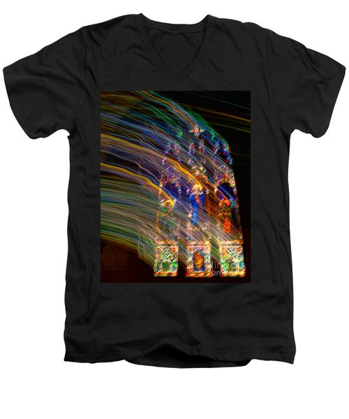 The Spirit Of The Saints Men's V-Neck T-Shirt by Kathleen K Parker