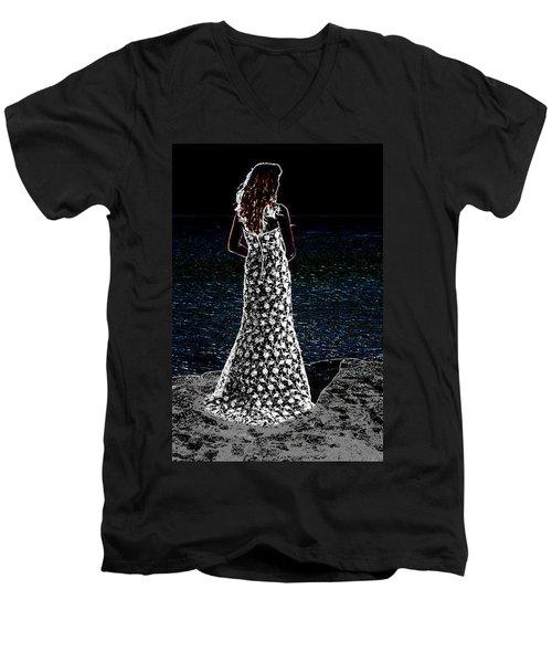 The Stanz Men's V-Neck T-Shirt by Leticia Latocki
