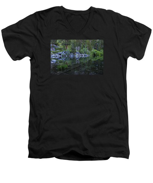 Men's V-Neck T-Shirt featuring the photograph The Stillness Of Dawn  by Sean Sarsfield