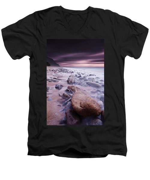 The Stone Land Men's V-Neck T-Shirt