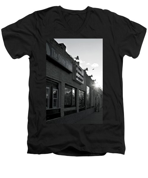 The Stone Pony Asbury Park Side View Men's V-Neck T-Shirt