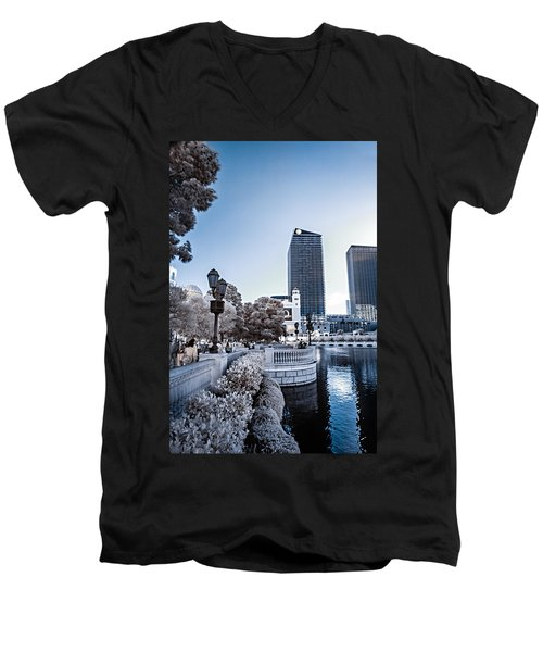 The Strip In Infrared Men's V-Neck T-Shirt