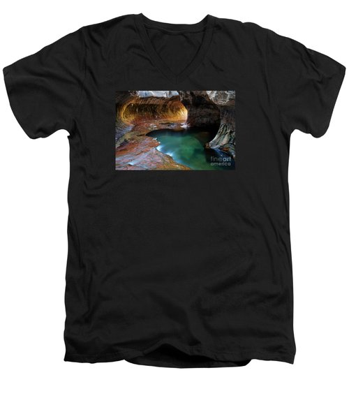 The Subway Sacred Light Men's V-Neck T-Shirt