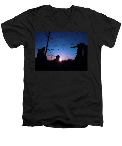 The Sun Also Rises On Ruins Men's V-Neck T-Shirt