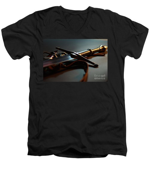 The Sword Of Aragorn 1 Men's V-Neck T-Shirt by Micah May