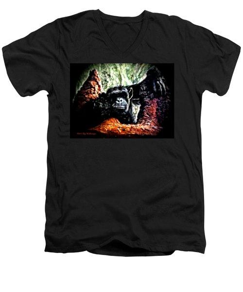 The Thinker Men's V-Neck T-Shirt