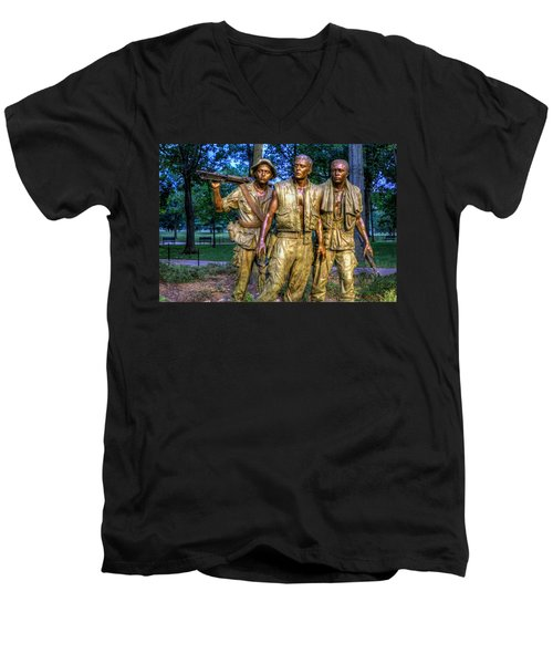 The Three Soldiers Facing The Wall Men's V-Neck T-Shirt