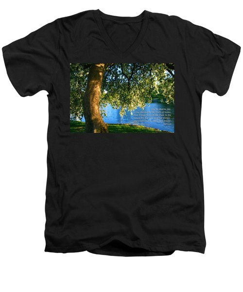 The Tree God Spoke Of... Men's V-Neck T-Shirt by Terry Wallace