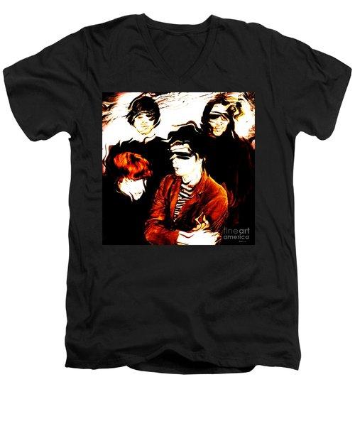 The Velvet Underground  Men's V-Neck T-Shirt by Elizabeth McTaggart