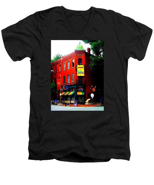 The Venice Cafe' Edited Men's V-Neck T-Shirt