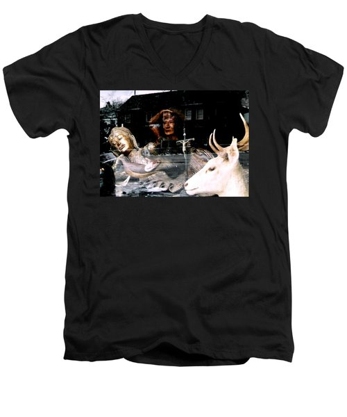 Men's V-Neck T-Shirt featuring the photograph A Surreal View by Michael Hoard