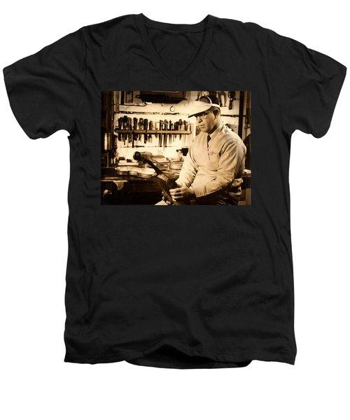The Violin Maker Men's V-Neck T-Shirt