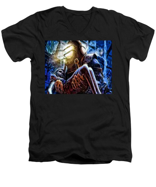 The Watchful Protector Men's V-Neck T-Shirt