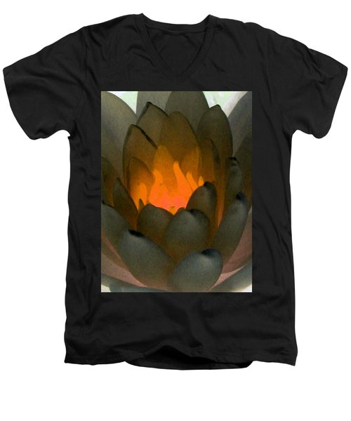 Men's V-Neck T-Shirt featuring the photograph The Water Lilies Collection - Photopower 1043 by Pamela Critchlow