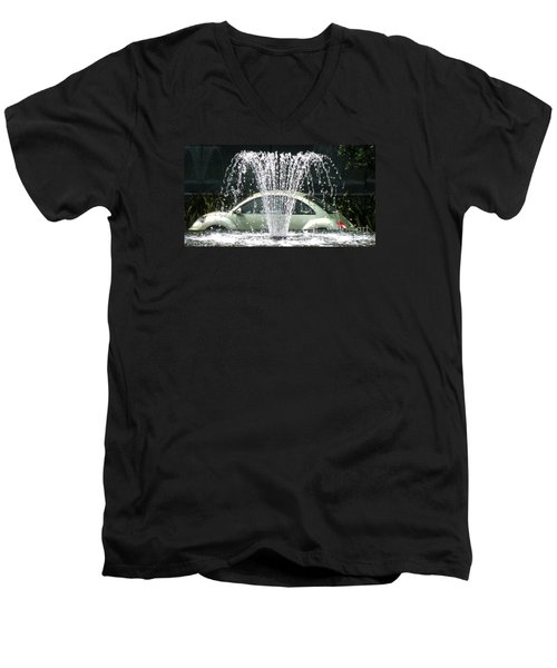 Men's V-Neck T-Shirt featuring the photograph The  Waterbug by John King