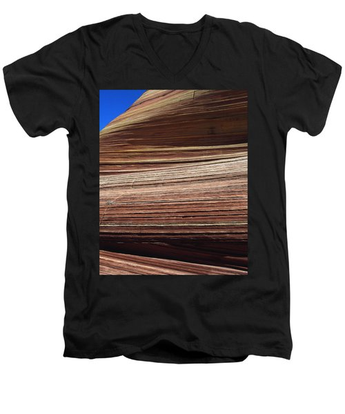 'the Wave' North Coyote Buttes 06 Men's V-Neck T-Shirt