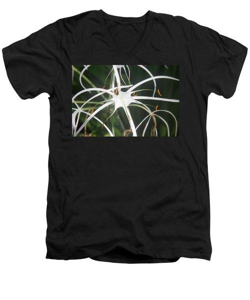 The White Spyder Men's V-Neck T-Shirt